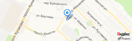 Магазин автозапчастей для Ford на карте Ставрополя