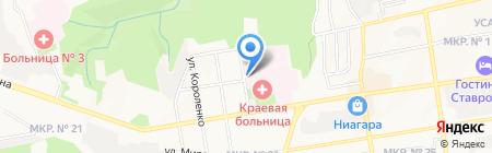 Изумруд на карте Ставрополя