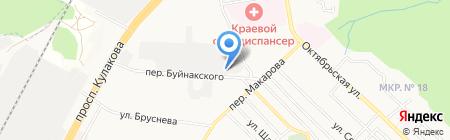 Натали на карте Ставрополя