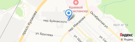 Фламинго на карте Ставрополя