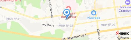 Детский сад №46 на карте Ставрополя