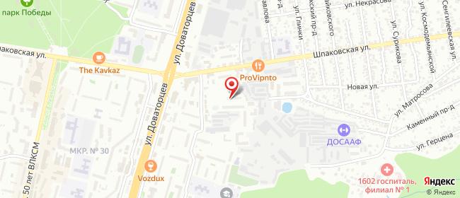 Карта расположения пункта доставки Ставрополь Шпаковская в городе Ставрополь