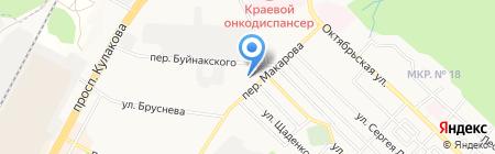 Флёр на карте Ставрополя