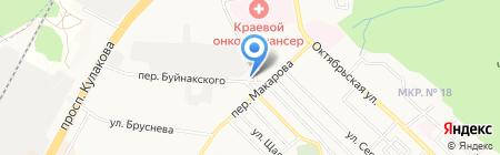 Астерия на карте Ставрополя