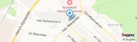 Автомойка в Буйнакском переулке на карте Ставрополя