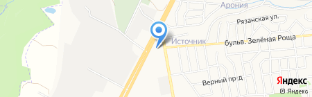 Mazda на карте Ставрополя
