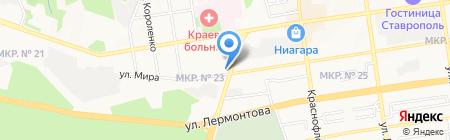 Военно-Промышленный Банк на карте Ставрополя