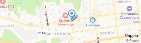 Филиал НКЦ на карте Ставрополя