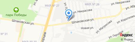 Пункт приема макулатуры на карте Ставрополя