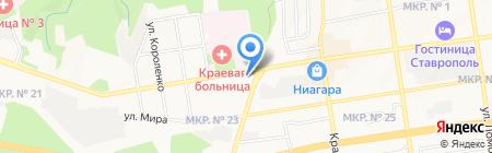 ТНТ на карте Ставрополя