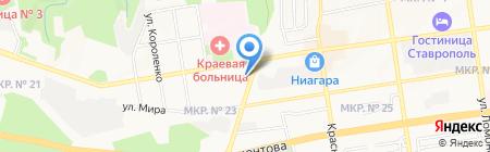 Зелёная Обезьяна на карте Ставрополя