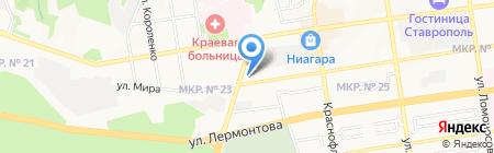 Магазин радиодеталей на карте Ставрополя