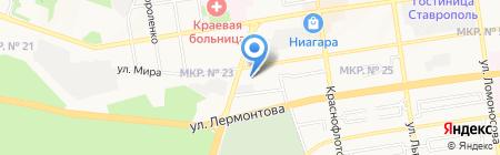 Северо-Кавказский банк Сбербанка России на карте Ставрополя