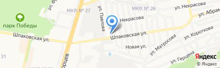 Лицей №38 на карте Ставрополя