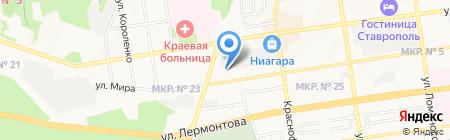 Метка на карте Ставрополя