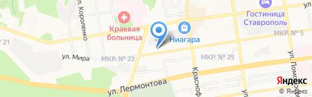 Витязь и К на карте Ставрополя