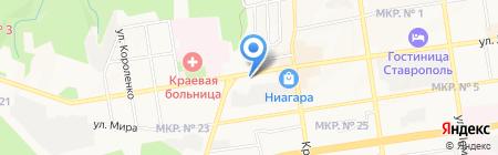 Pegas Touristik на карте Ставрополя