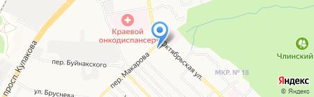 Средняя общеобразовательная школа №34 на карте Ставрополя