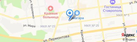 Национальный банк ТРАСТ на карте Ставрополя