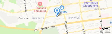 Адвокатский кабинет Пучкина А.В. на карте Ставрополя