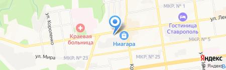 СТРАЖ-СТ на карте Ставрополя