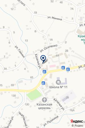 Сельская модельная библиотека на карте Татарки