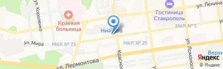 Виват на карте Ставрополя