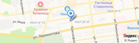 Вебер на карте Ставрополя