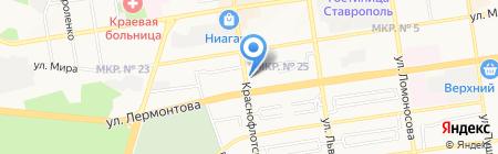 Эй Си Нильсен на карте Ставрополя