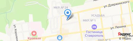 Радио 26 на карте Ставрополя