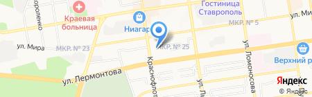 Сириес на карте Ставрополя