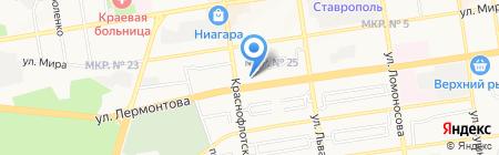 Пивбанк на карте Ставрополя