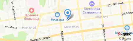 Окна Горизонт на карте Ставрополя