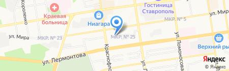 Ставропольпромстройбанк на карте Ставрополя