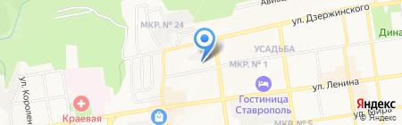 Лицей №14 на карте Ставрополя