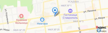 Тереховъ на карте Ставрополя