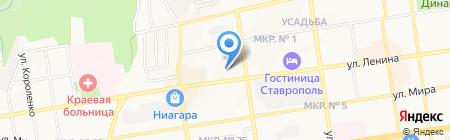 Цифроград на карте Ставрополя