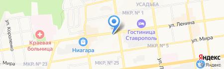 1001 ТУР на карте Ставрополя