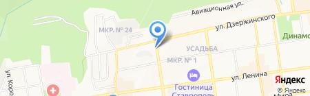 Любава на карте Ставрополя