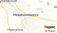 Гостиницы города Невинномысск на карте
