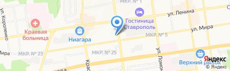 Средняя общеобразовательная школа №6 с углубленным изучением отдельных предметов на карте Ставрополя