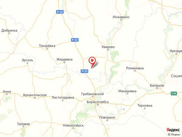поселок Луч на карте