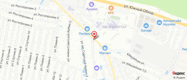 Карта расположения пункта доставки Ставрополь имени Советской Армии в городе Ставрополь