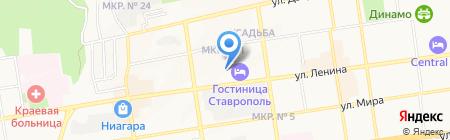 Организация частной системы здравоохранения Ставропольского края на карте Ставрополя