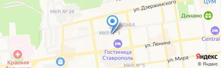 Отдел организации капитального строительства ГУВД СК на карте Ставрополя