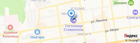 Ставропольские колбасы на карте Ставрополя