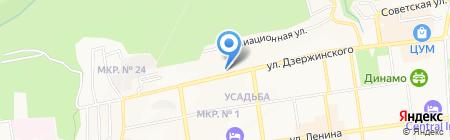 Таманский на карте Ставрополя