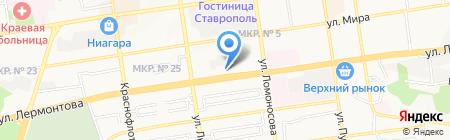 Педиатрия Ставрополья на карте Ставрополя