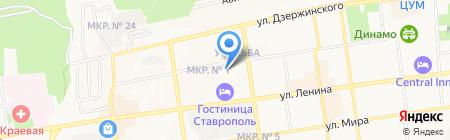 Управление капитального строительства г. Ставрополя на карте Ставрополя