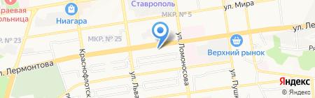 МТЗ-Ставрополь на карте Ставрополя